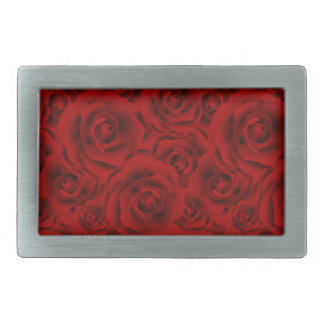 Summer colorful pattern rose rectangular belt buckle