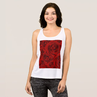 Summer colorful pattern rose singlet