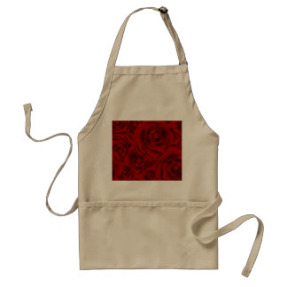 Summer colorful pattern rose standard apron