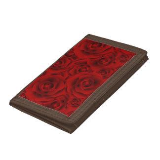 Summer colorful pattern rose tri-fold wallet
