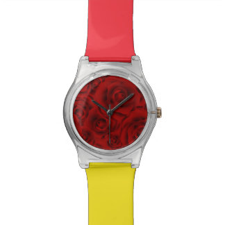 Summer colorful pattern rose wrist watch