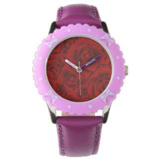 Summer colorful pattern rose wristwatch
