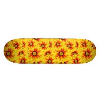 Summer colorful pattern yellow tickseed 20.6 cm skateboard deck