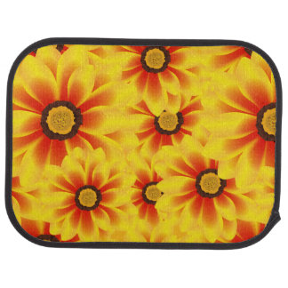 Summer colorful pattern yellow tickseed car mat