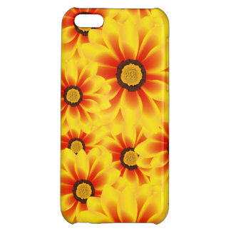 Summer colorful pattern yellow tickseed case for iPhone 5C