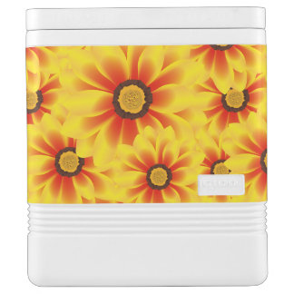 Summer colorful pattern yellow tickseed cooler