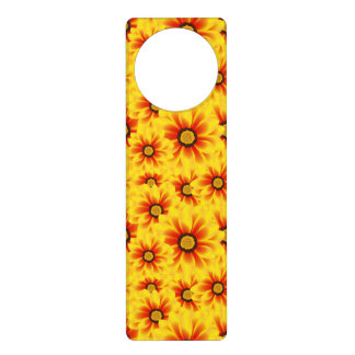 Summer colorful pattern yellow tickseed door hanger