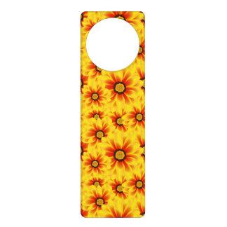 Summer colorful pattern yellow tickseed door knob hangers