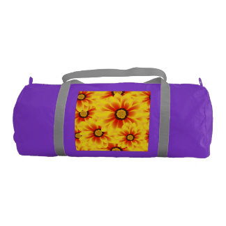 Summer colorful pattern yellow tickseed gym bag