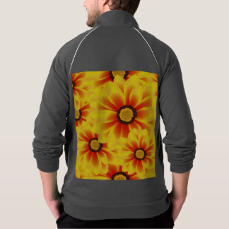 Summer colorful pattern yellow tickseed jacket