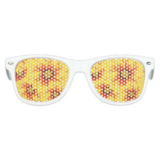 Summer colorful pattern yellow tickseed kids sunglasses