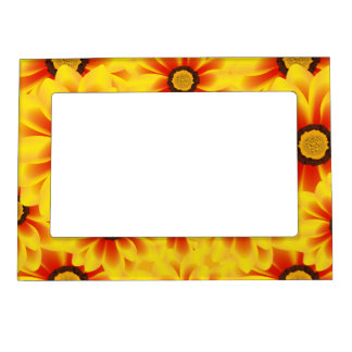 Summer colorful pattern yellow tickseed magnetic picture frame