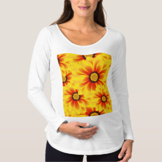 Summer colorful pattern yellow tickseed maternity T-Shirt
