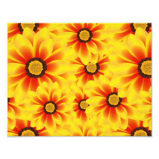 Summer colorful pattern yellow tickseed photo print