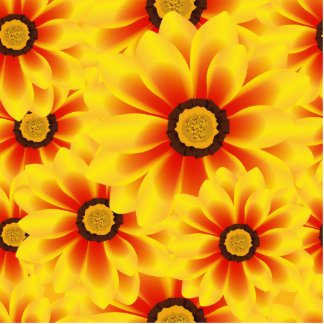 Summer colorful pattern yellow tickseed photo sculpture magnet