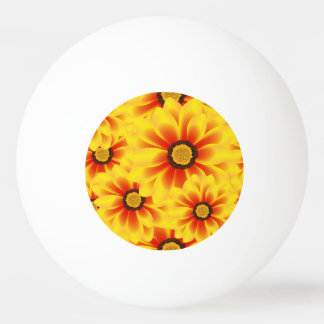 Summer colorful pattern yellow tickseed ping pong ball