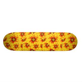 Summer colorful pattern yellow tickseed skate board decks