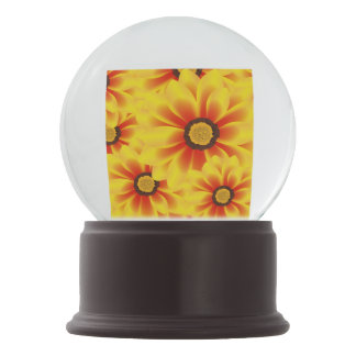Summer colorful pattern yellow tickseed snow globes