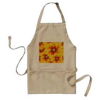 Summer colorful pattern yellow tickseed standard apron