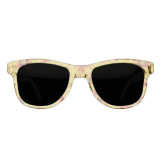 Summer colorful pattern yellow tickseed sunglasses