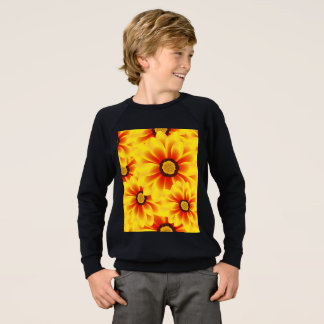 Summer colorful pattern yellow tickseed sweatshirt