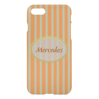 Summer Colors Orange and Beige Stripes - Classic iPhone 8/7 Case