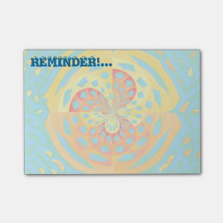 Summer colors post-it notes