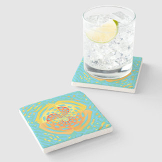 Summer colors stone coaster