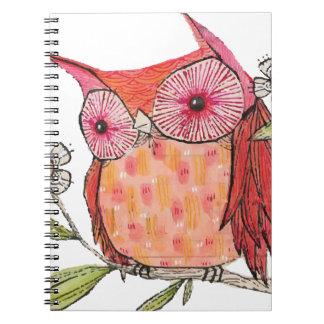 Summer colourful owl T shirt Notebooks