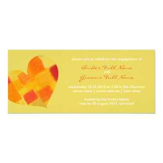 Summer confetti Engagement Invitation