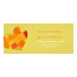 Summer confetti Wedding Announcement