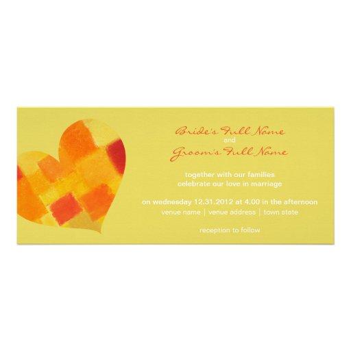Summer confetti Wedding Invitation