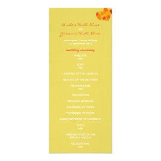 Summer confetti Wedding Program 10 Cm X 24 Cm Invitation Card
