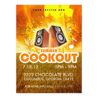 SUMMER COOKOUT FLYER CARD