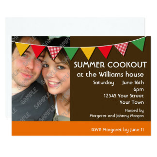 Summer Cookout Party Card