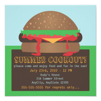 Summer Cookout Party Invitation