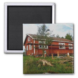 Summer cottage magnet