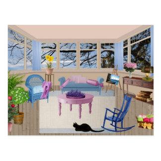 summer cottage postcard