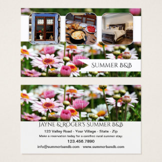 Summer Cottage Rental or BandB Business Card
