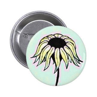 Summer Daisy 2 Inch Round Button