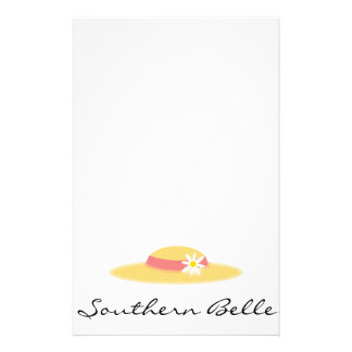 Summer Daisy Hat Southern Belle Cartoon Personalised Stationery