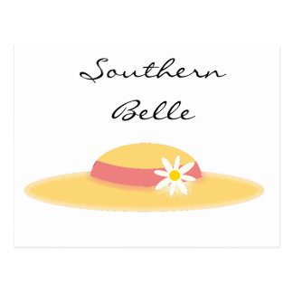 Summer Daisy Hat Southern Belle Cartoon Postcard