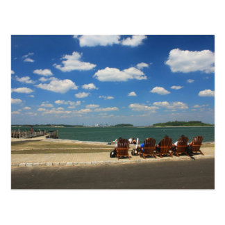 Summer Day at Georges Island, Boston Harbor Postcard