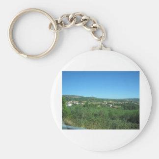 Summer day basic round button key ring