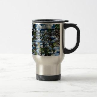 Summer day stainless steel travel mug