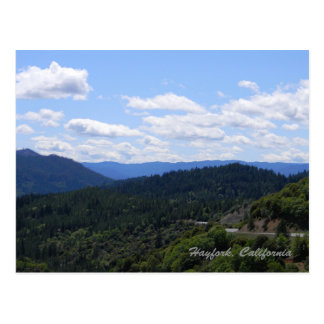 Summer day view from on top of the mountains.... postcard