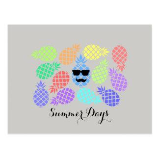 """Summer Days"" Pineapple Postcard"