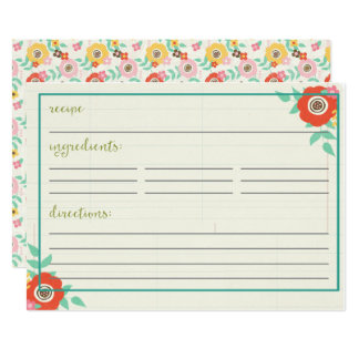 Summer Dayz Recipe Cards