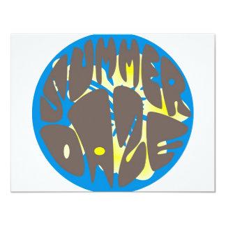 Summer Daze Blue Hibiscus Invitation