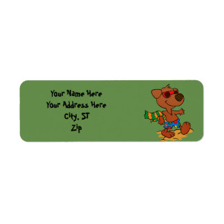 Summer dog return address label
